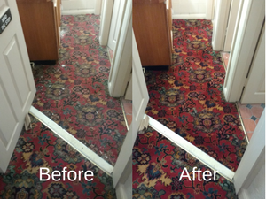 Carpet Cleaning in Worcester Before & After Pic